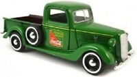 Motorcity Classics 37 Ford Picup 1:24 Fountian Services Coca cola Green.