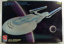 Vintage STAR TREK USS Excellsior Model Kit-AMT ERTL-FREE S&H(STMO-6630)