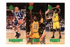 1993 Classic Four-Sport Tri-Card.  Hardaway-Shaq-Webber.  1 of only 65,600 made.