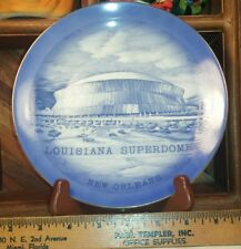 Louisiana Super-dome New Orleans Vintage Travel Souvenir Plate