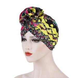 Ankara Print style African stretch Head Wrap scarf - Hijab Turban chemo cap