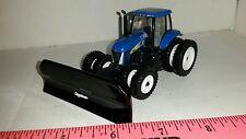 1/64 CUSTOM NEW HOLLAND t8050 TRACTOR & 16' 6 WAY degelman blade ERTL FARM TOY