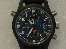 IWC Top Gun split seconds dual chrono watch
