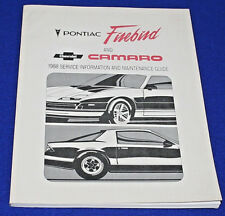 CHEVROLET 1988 Camaro Service Info & Maintenance Guide  Genuine GM Product