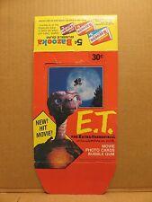 E. T. THE EXTRA-TERRESTRIAL MOVIE PHOTO CARDS & BUBBLE GUM CARTON