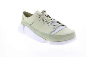 Clarks Trigenic Evo 26131590 Womens Green Nubuck Lifestyle Sneakers Shoes