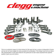 """CHEVY 383 SCAT STROKER KIT, 2PC RS, Premium Forged(Flat)Pist., H-Beam 6"""" Rods"""