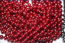 Details about Details about 8mm 18'' South RED Sea Shell Pearl Round Beads