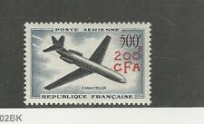 Reunion, French, Postage Stamp, #C46 Mint LH, 1957 Airplane
