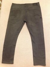 "Men's G-STAR RAW ""Type-C 3D Super Slim"" Gray Jeans Size 38x30*"