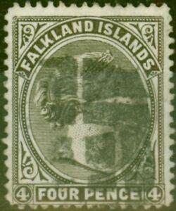 Falkland Islands 1889 4d Olive Grey-Black SG12 Fine Used