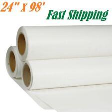 "24"" x 98´ White Printable PU Heat Transfer Vinyl HTV Roll T-shirt Press Iron On"