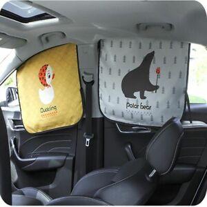 Cartoon Magnetic Car Rear Side Window Curtain Sun Sunshade Cover For Baby Kids