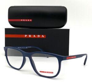 Prada Sport Linea Rossa PS 05LV 2881O1 Blue Rubber 53mm Eyeglasses