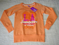 SWEAT LÉGER ORANGE IMPRESSION L.A... T 12 ANS NEUF