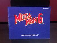 Mega Man 6 NES Instruction Manual Booklet Nintendo Instructions AUTHENTIC