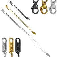 Kettenverlängerung Halskette Edelstahl Karabinerverschluss Golden Silbern Ø 3mm