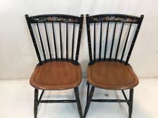 Hitchcock chair co Black/harvest Seaport Side Chairs used hitchcock dot Com
