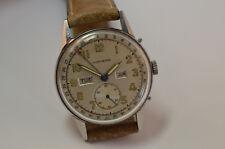 Movado Triple Calendar Vintage Uhr Edelstahl, Handaufzug Werk, selten