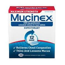 Mucinex Maximum Strength Extended-Release Bi-Layer Tablets, 28 Count (3 Pack)