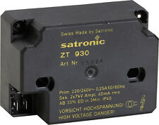 Satronic ZT 930 Honeywell Zündtrafo ersetzt 900/ 801 4mm Trafo Heizung Brenner