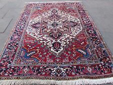 Old Traditional Hand Made Persian Rug Oriental Rug Carpet Wool White 260x205cm