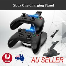 BLACK DUAL USB CHARGER DOCKING STATION CHARGING STAND FOR XBOX ONE CONTROLLER Z#