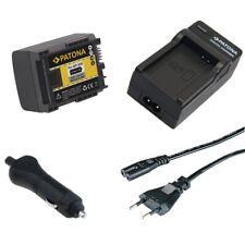 Batteria Patona + Caricabatteria casa/auto per Canon Legria HF-200,HF-21,HF-G10
