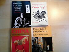 LOT OF 4 CHINA/NEPAL-HISTORY/HERMITS/TRAVEL/KATHMANDU-QUALITY SOFTCVRS-ILLUS NF