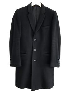 HUGO BOSS WOOL CASHMERE BLACK COAT GORGEOUS