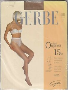 Collant GERBE ORGANZA 15 deniers disponibles en 3 coloris. Taille 1 - 8½. Tights