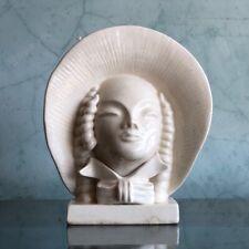 Australian Pottery Art Deco lady in bonnet vase, c. 1935