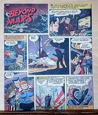 Beyond Mars by Jack Williamson - scarce full tab Sunday comic page Sept 13, 1953