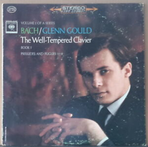 COLUMBIA MS 6408 ED 1 1963 USA BACH - WELL-TEMPERED CLAVIER BOOK 1 GLENN GOULD