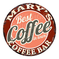 CBCB-0001 MARY'S COFFEE BAR Sign Mother's day Birthday Christmas Gift For Women