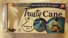 Trusty Cane Folding, Walking Triple Head Pivoting Base with LED As Seen on TV