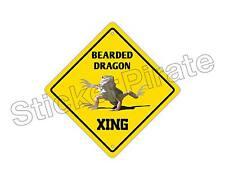 "*Aluminum* Bearded Dragon Crossing Funny Metal Novelty Sign 12""x12"""