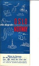 The Key to Oslo Norway Oslo Travel Association Vintage Brochure Map