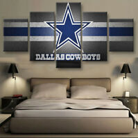 Dallas Cowboys Nation 5 pcs Painting Printed Canvas Wall Art Home Decorative