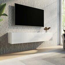 TV Schrank Lowboard Hängeboard Fernsehtisch 160cm Möbel - Hochglanz Türen Weiß