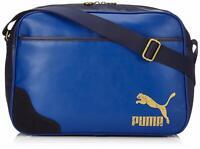 Puma Originals Reporter Shoulder Bag PU Leather blue Limoges 40 x 28 x 13 cm