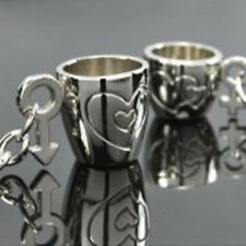 Lot 2pcs/Set 3D Love Cup Heart Pendant Key Chain Keyring Keychain Keyfob Gift