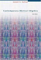 Contemporary Abstract Algebra by Gallian, Joseph A. Hardback Book The Fast Free
