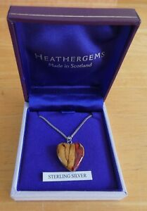 Scottish Heathergems Heart Pendant On Sterling Silver Chain (BNIB)