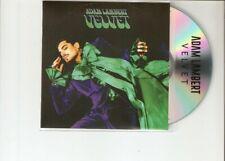 """ADAM LAMBERT """"VELVET"""" NEW OFFICIAL PROMO CD"""