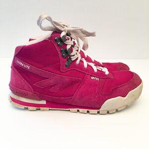 Hi-Tec Sierra Lite Original '78 Womens Size US 9 Pink Hiking Boots Shoes Retro