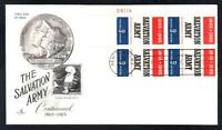 SALVATION ARMY Stamp 1267 Plate Block First Day Cover FDC (1607)