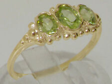 Peridot Oval Yellow Gold Fine Gemstone Rings