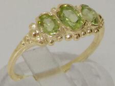 Natural Peridot Oval Yellow Gold Fine Gemstone Rings