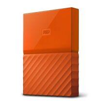Orange 1TB Western Digital My Passport Portable Hard Drive USB 3.0 WD